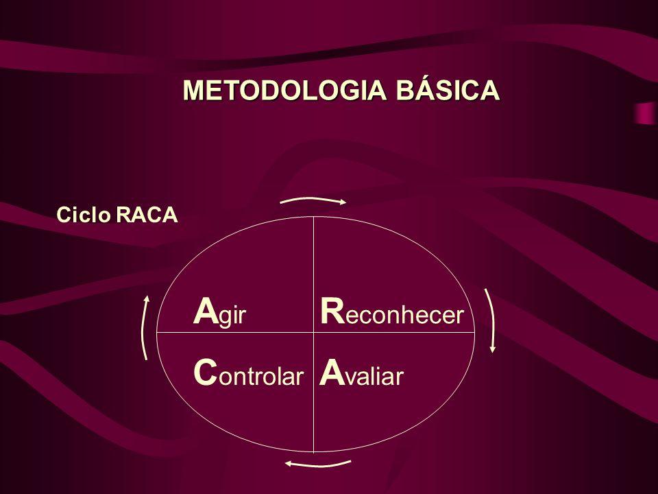 R econhecer Ciclo RACA A valiar A gir C ontrolar METODOLOGIA BÁSICA