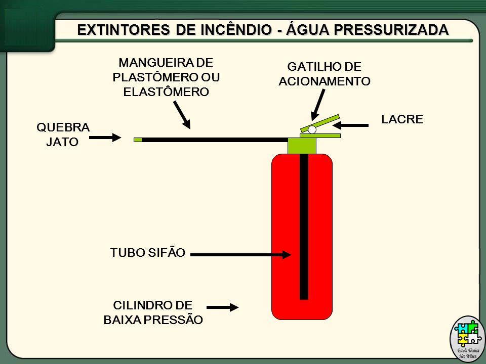 EXTINTORES DE INCÊNDIO PÓ QUÍMICO SECO (CLASSE B / C) É indicado para classe de incêndio tipo B mas pode ser utilizado em incêndio tipo C .