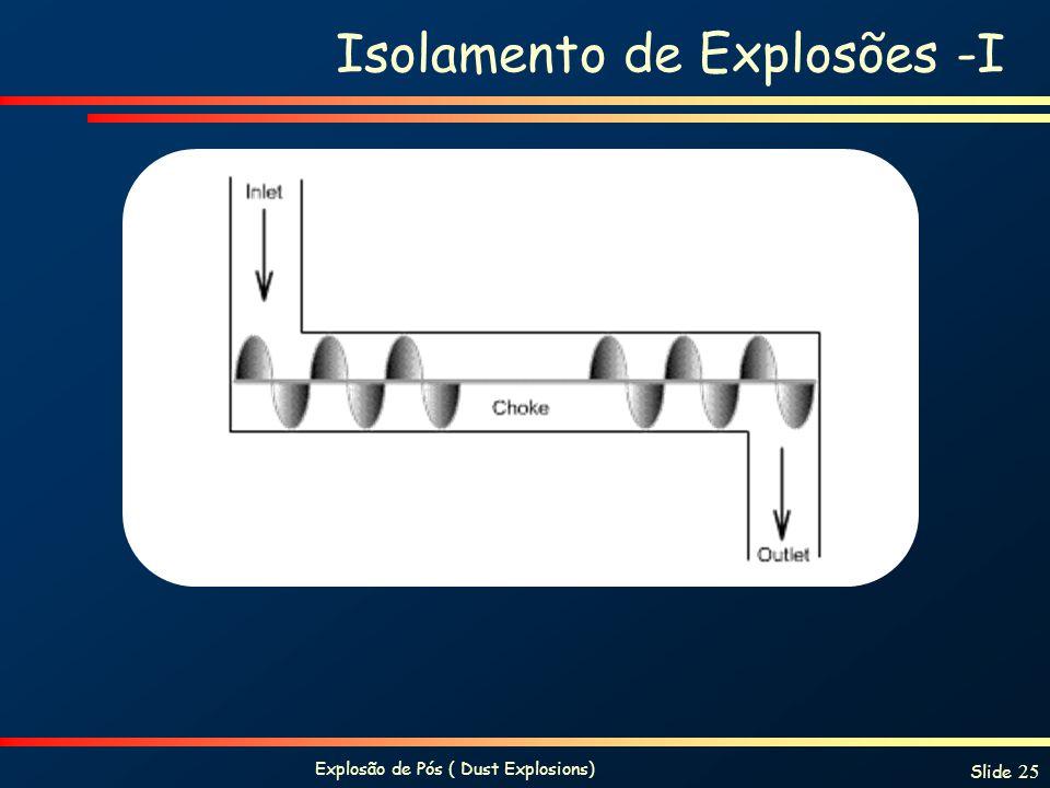 Explosão de Pós ( Dust Explosions) Slide 25 Isolamento de Explosões -I