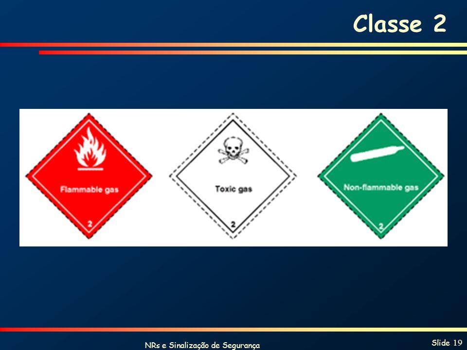 NRs e Sinalização de Segurança Slide 19 Classe 2