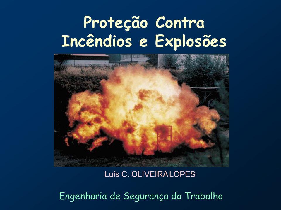 Proteção Contra Incêndios e Explosões Luís C. OLIVEIRA LOPES 25 de abril de 2003 Engenharia de Segurança do Trabalho