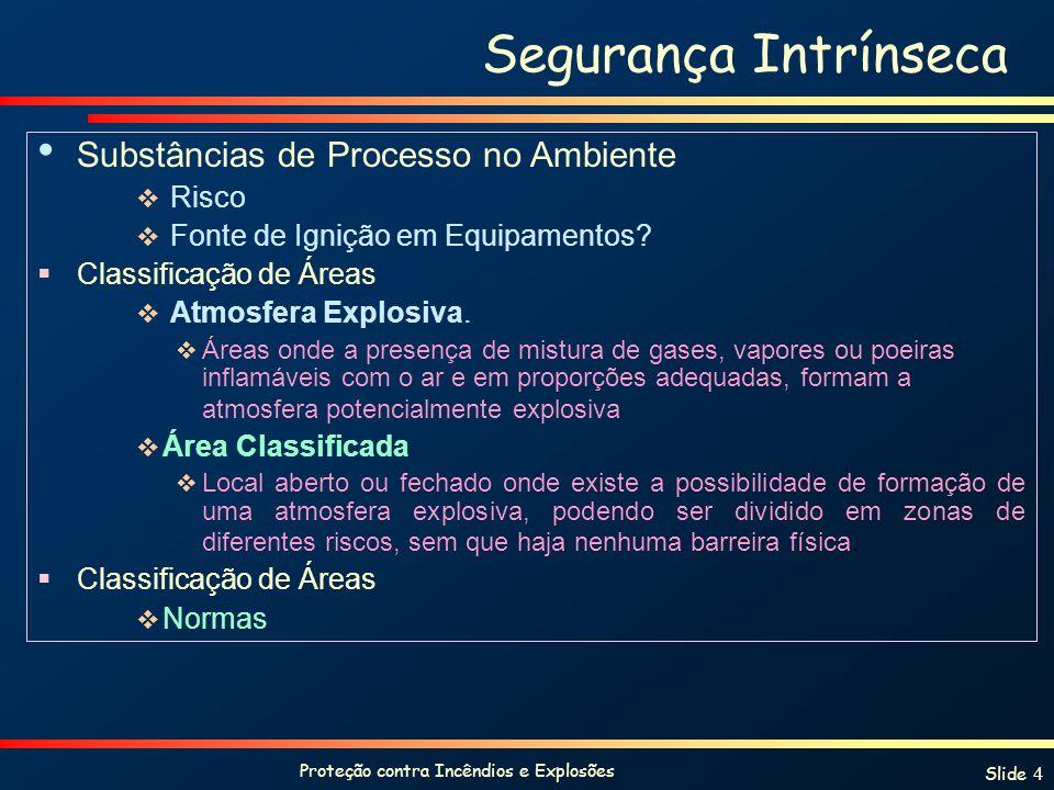 Proteção contra Incêndios e Explosões Slide 5 NORMAS EUROPÉIAS (IEC)- Brasil Zonas