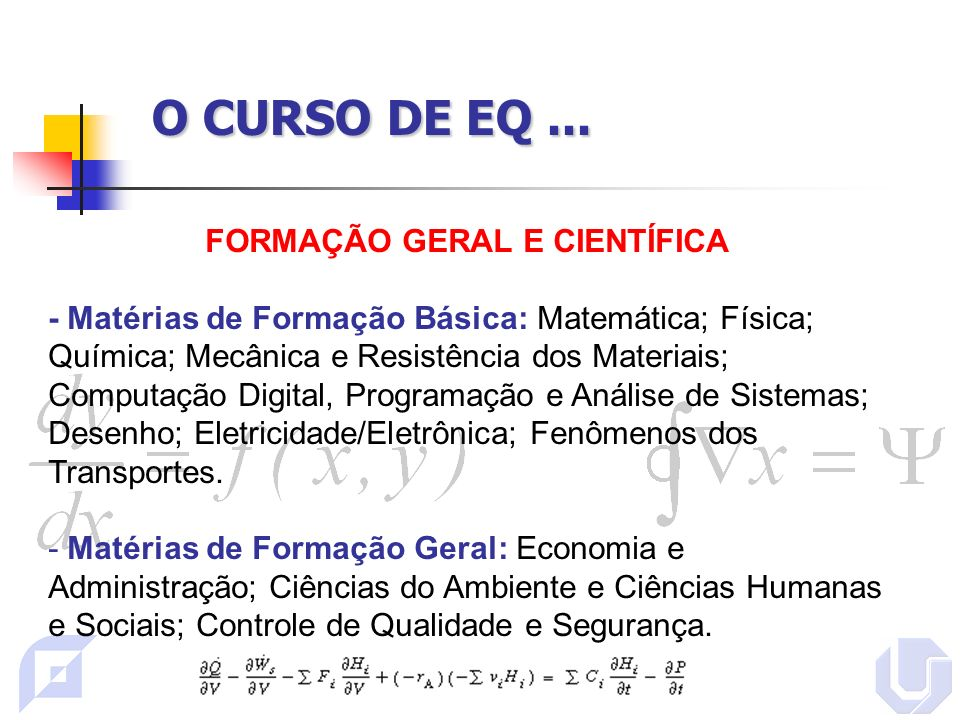 O CURSO DE EQ...