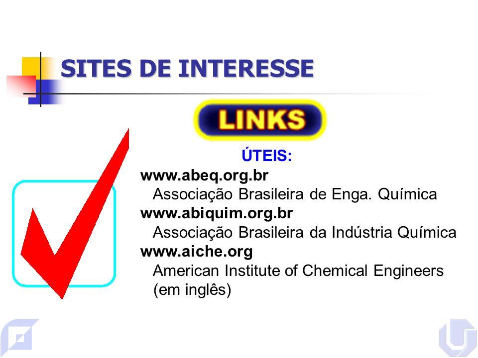 SITES DE INTERESSE ÚTEIS: www.abeq.org.br Associação Brasileira de Enga.