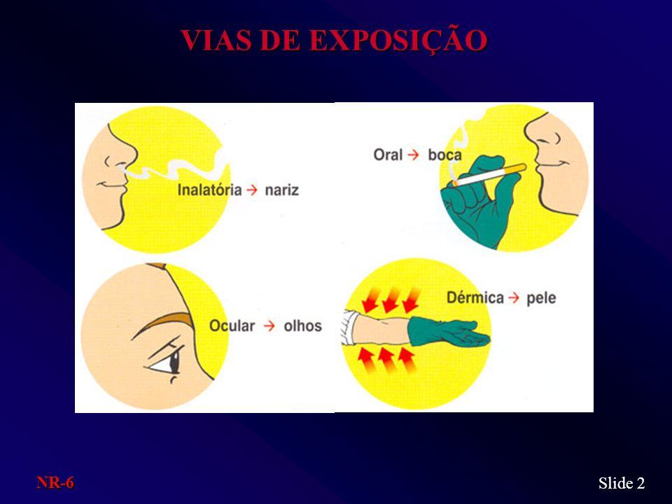 VIAS DE EXPOSIÇÃO Slide 2 NR-6