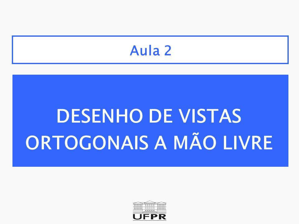 Aula 2 DESENHO DE VISTAS ORTOGONAIS A MÃO LIVRE