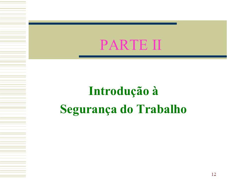 12 PARTE II Introdução à Segurança do Trabalho