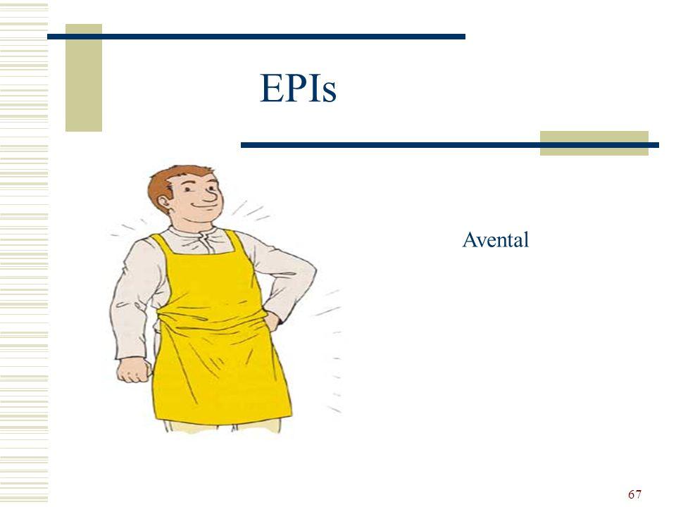 67 EPIs Avental