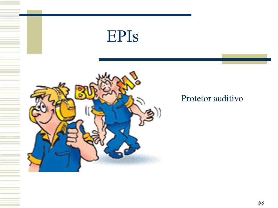 68 EPIs Protetor auditivo