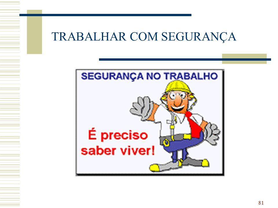 81 TRABALHAR COM SEGURANÇA