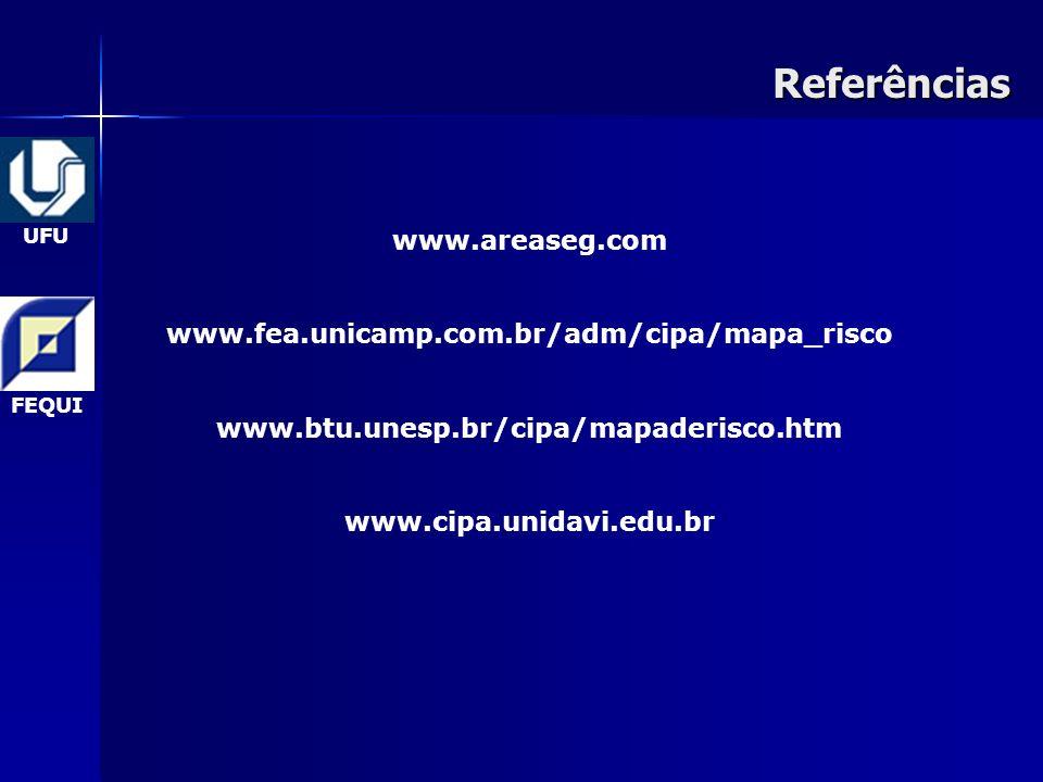 27Referências UFU FEQUI www.areaseg.com www.fea.unicamp.com.br/adm/cipa/mapa_risco www.btu.unesp.br/cipa/mapaderisco.htm www.cipa.unidavi.edu.br