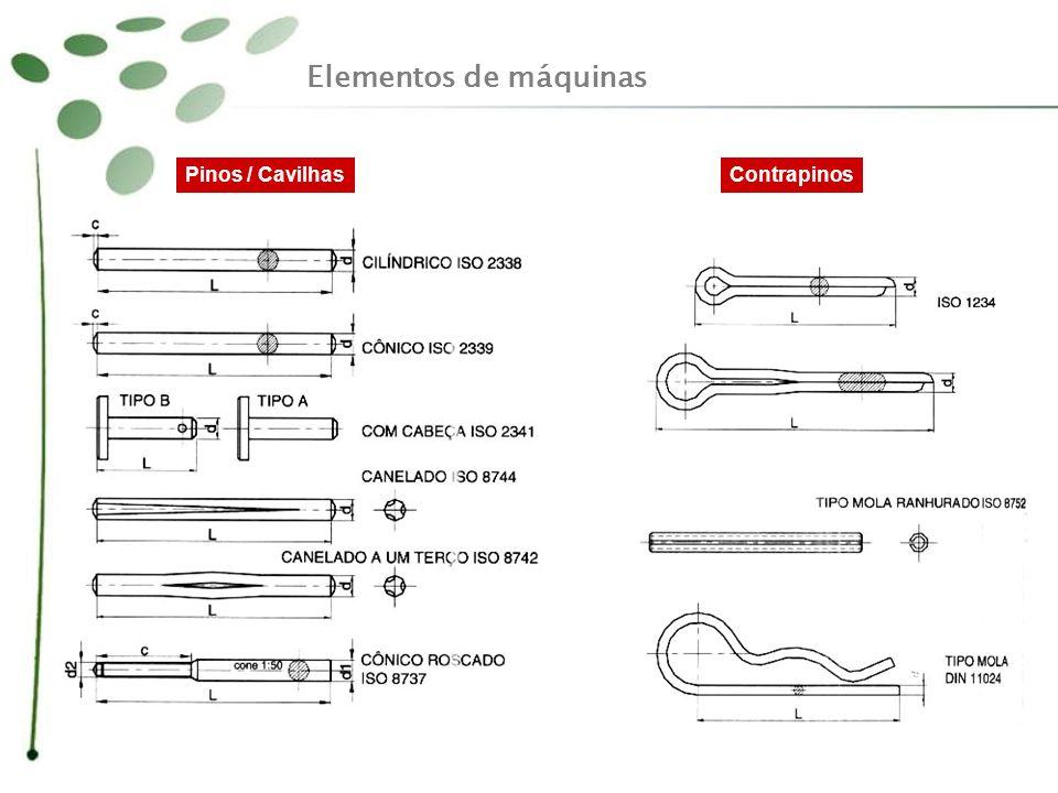 Elementos de máquinas Pinos / CavilhasContrapinos