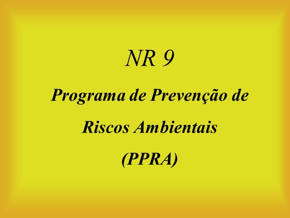 NR 9 Programa de Prevenção de Riscos Ambientais (PPRA)