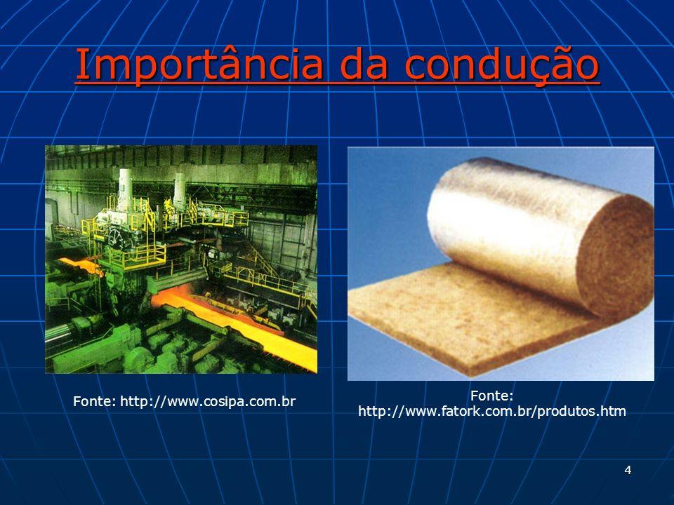 4 Importância da condução Fonte: http://www.fatork.com.br/produtos.htm Fonte: http://www.cosipa.com.br
