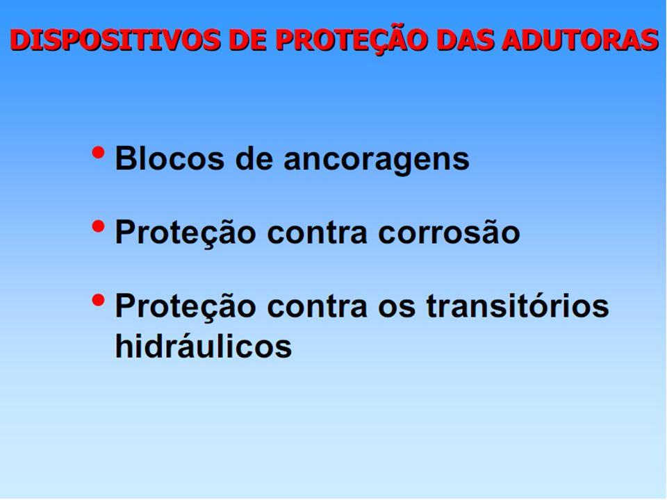 Grandezas características 5) Potência absorvida pela bomba (CV): = peso específico da água = eficiência da bomba