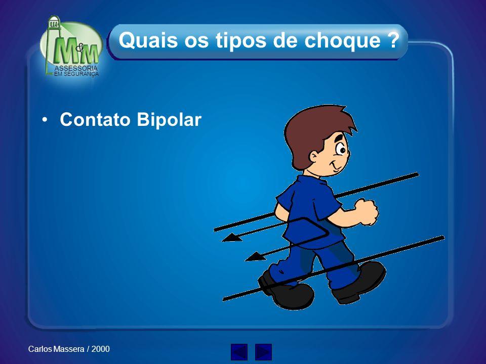 ASSESSORIA EM SEGURANÇA Carlos Massera / 2000 Contato Unipolar Quais os tipos de choque ?