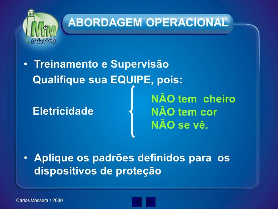 ASSESSORIA EM SEGURANÇA Carlos Massera / 2000 Responsabilizar os níveis Gerenciais Ter e manter Padrões Elevados Evitar ações isoladas Não funcionam !