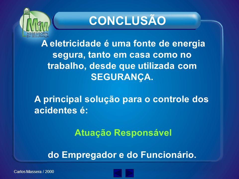 ASSESSORIA EM SEGURANÇA Carlos Massera / 2000 Ambiente Seguro –Um programa para identificar os riscos no seu ambiente de trabalho é fundamental para g