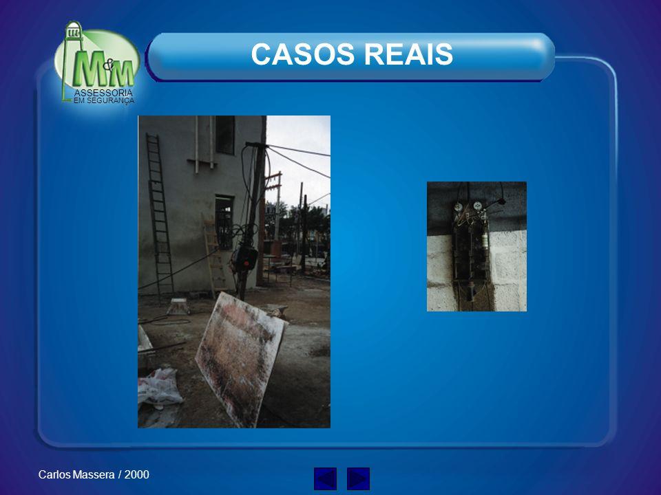 ASSESSORIA EM SEGURANÇA Carlos Massera / 2000 Redes de Alimentação –Antes de começar a trabalhar verifique sempre a posição das redes de alimentação, para evitar que você entre em contato com elas.