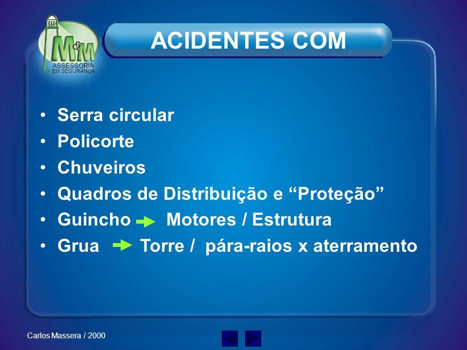 ASSESSORIA EM SEGURANÇA Carlos Massera / 2000 ACIDENTES FATAIS