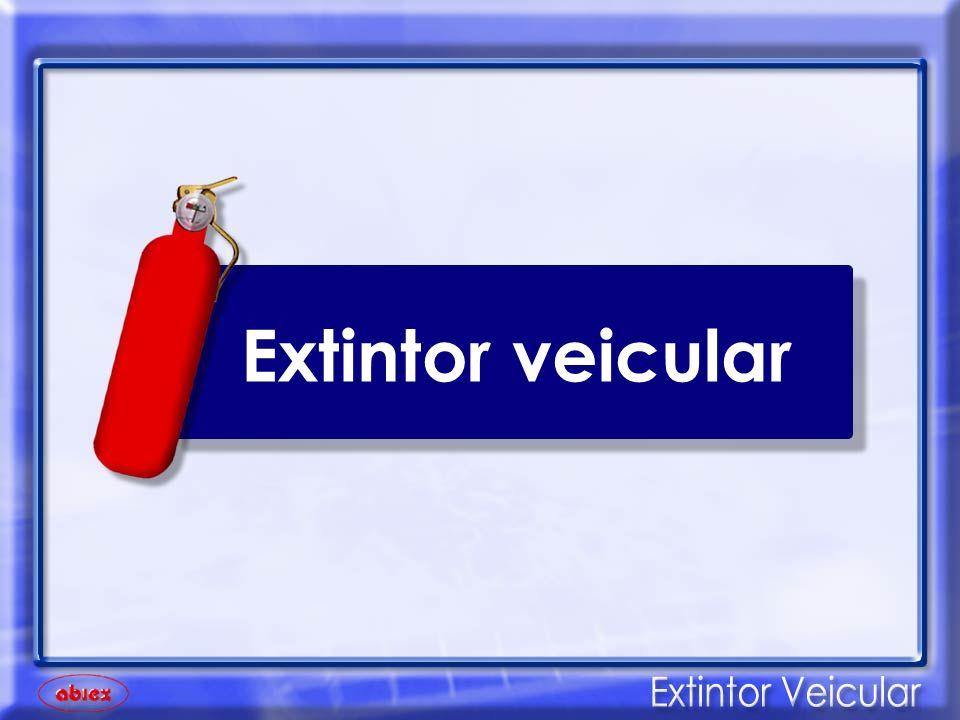 O único equipamento de segurança adequado para combater um princípio de incêndio veicular é o Extintor automotivo.