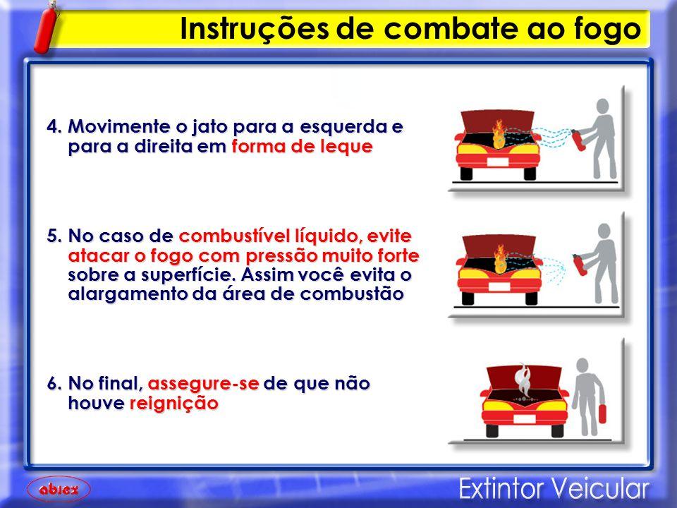 Fumaça de cor BRANCA e sem cheiro é vapor de água do radiador Fumaça de cor BRANCA e sem cheiro é vapor de água do radiador Fumaça de cor ESCURA e com cheiro forte é princípio de incêndio Fumaça de cor ESCURA e com cheiro forte é princípio de incêndio Se o fogo não puder ser controlado, deixe imediatamente o local Se o fogo não puder ser controlado, deixe imediatamente o local Sempre que possível, acione o Corpo de Bombeiros - 193 Sempre que possível, acione o Corpo de Bombeiros - 193 IMPORTANTE Instruções de combate ao fogo