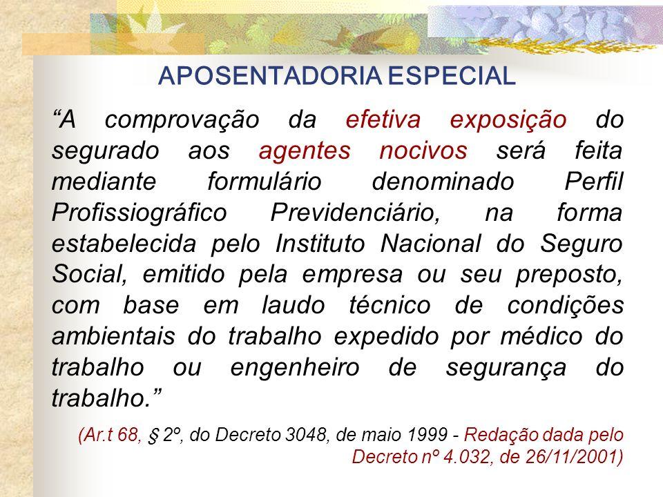 APOSENTADORIA ESPECIAL Art.