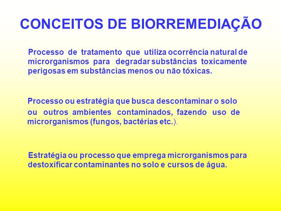 OBJETIVO E BENEFÍCIO DA BIORREMEDIAÇÃO INOCULAR O SOLO COM MICRORGANISMOS COM CAPACIDADE DE METABOLIZAR RESÍDUOS TÓXICOS PROPORCIONANDO MAIOR SEGURANÇA E MENOS PERTURBAÇÕES AO MEIO AMBIENTE