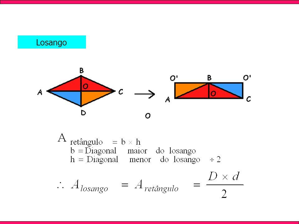 Apresenta todos os lados com mesma medida; As diagonais são perpendiculares (formam 90º) e se intersectam em seu ponto médio; Possui dois ângulos agudos (menores que 90º) e dois ângulos obtusos (maiores que 90º).
