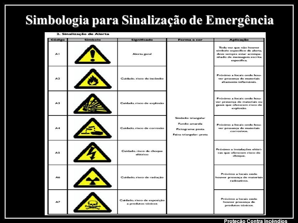 Simbologia para Sinalização de Emergência Proteção Contra Incêndios