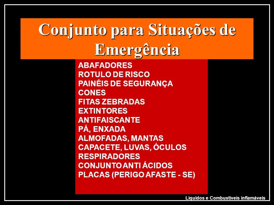 Conjunto para Situações de Emergência ABAFADORES ROTULO DE RISCO PAINÉIS DE SEGURANÇA CONES FITAS ZEBRADAS EXTINTORES ANTIFAISCANTE PÁ, ENXADA ALMOFAD