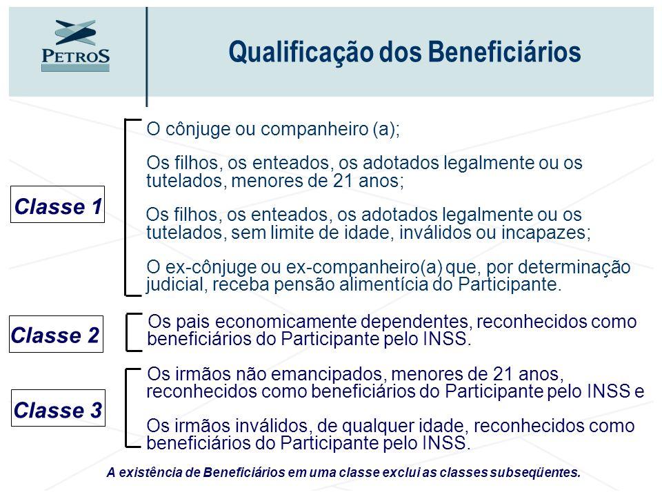 A existência de Beneficiários em uma classe exclui as classes subseqüentes. Os pais economicamente dependentes, reconhecidos como beneficiários do Par