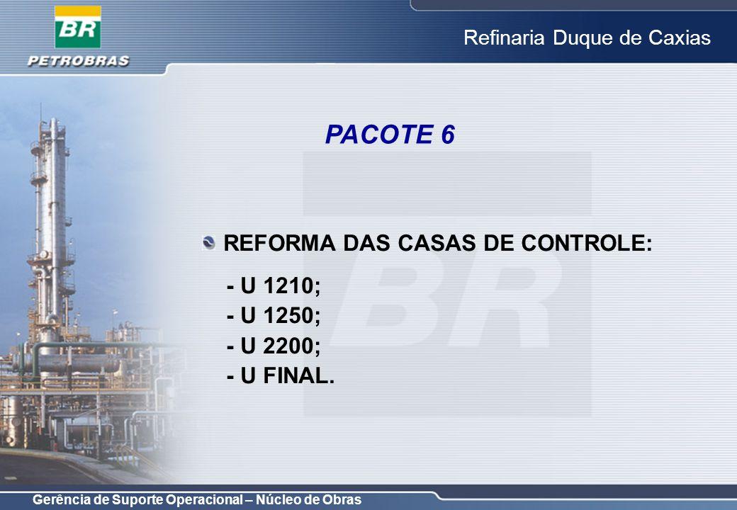Gerência de Suporte Operacional – Núcleo de Obras Refinaria Duque de Caxias REFORMA DAS CASAS DE CONTROLE: - U 1210; - U 1250; - U 2200; - U FINAL. PA