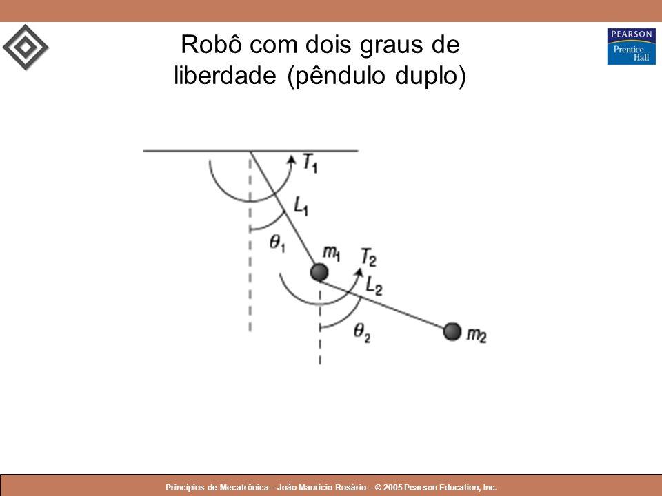 © 2005 by Pearson Education Princípios de Mecatrônica – João Maurício Rosário – © 2005 Pearson Education, Inc. Robô com dois graus de liberdade (pêndu