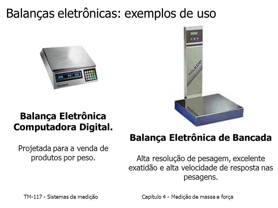 TM-117 - Sistemas de mediçãoCapítulo 4 - Medição de massa e força Balança Eletrônica Computadora Digital. Projetada para a venda de produtos por peso.