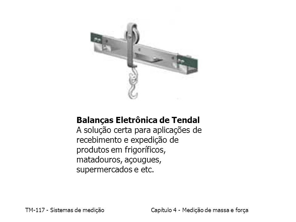 TM-117 - Sistemas de mediçãoCapítulo 4 - Medição de massa e força Balanças Eletrônica de Tendal A solução certa para aplicações de recebimento e exped