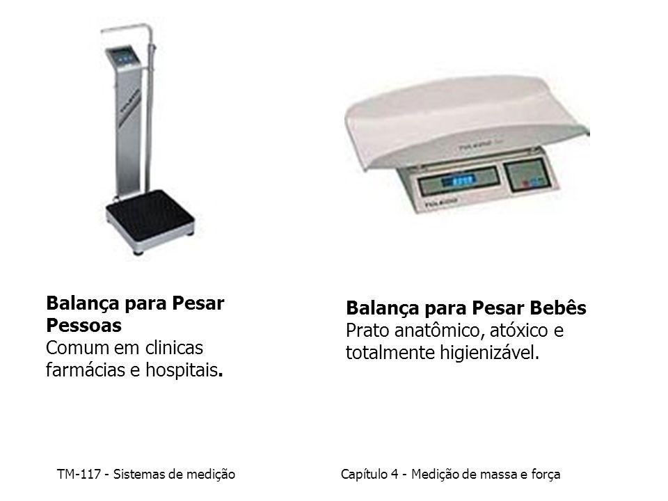 TM-117 - Sistemas de mediçãoCapítulo 4 - Medição de massa e força Balança para Pesar Pessoas Comum em clinicas farmácias e hospitais. Balança para Pes