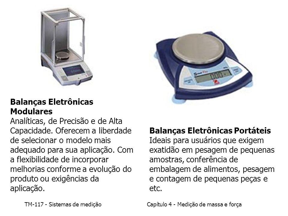 TM-117 - Sistemas de mediçãoCapítulo 4 - Medição de massa e força Balanças Eletrônicas Modulares Analíticas, de Precisão e de Alta Capacidade. Oferece