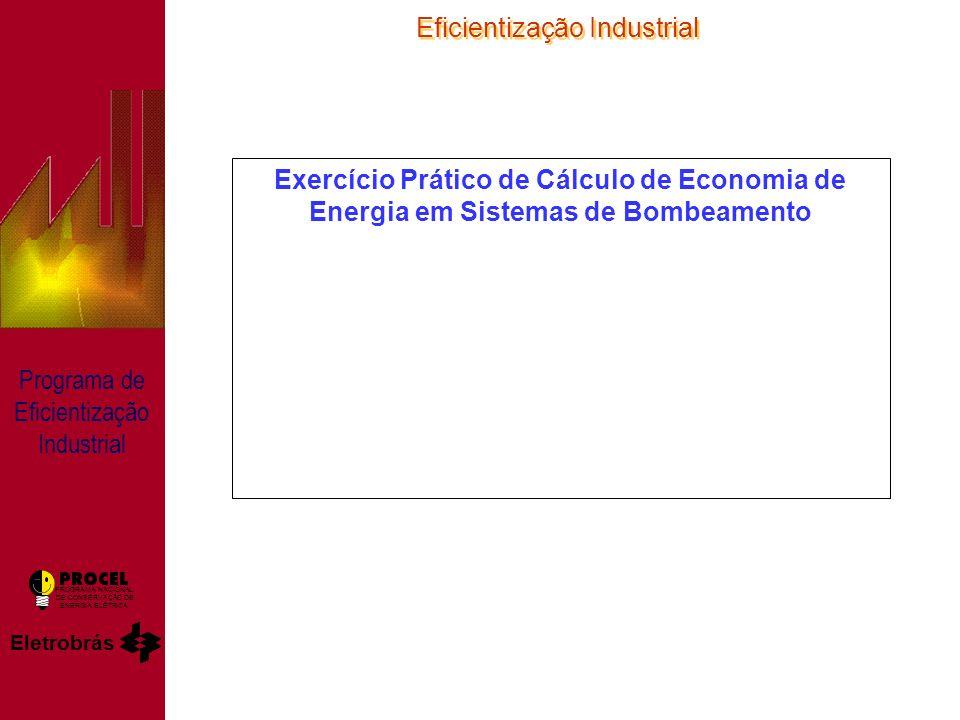 Eficientização Industrial Eletrobrás PROGRAMA NACIONAL DE CONSERVAÇÃO DE ENERGIA ELÉTRICA Programa de Eficientização Industrial Exercício Prático de Cálculo de Economia de Energia em Sistemas de Bombeamento