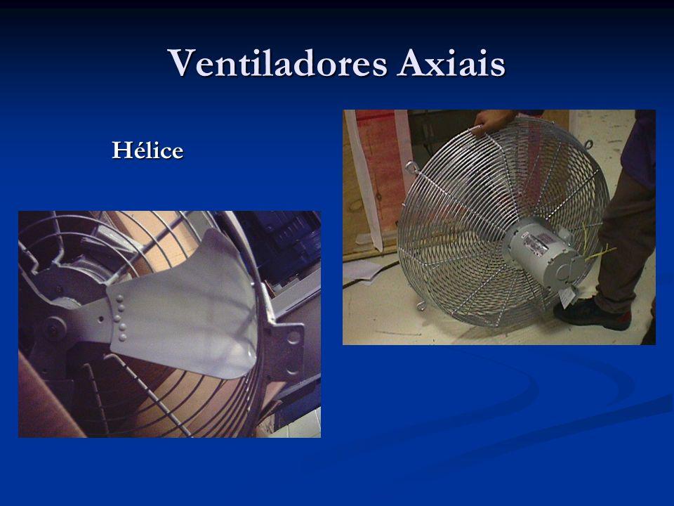 O Trabalho de Compressão de Gases Se o processo que ocorre no ventilador é adiabático, então : Se o processo que ocorre no ventilador é adiabático, então :