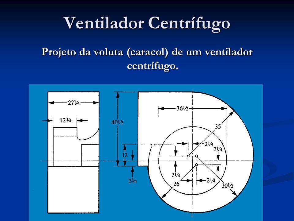 Ventilador Centrífugo Projeto da voluta (caracol) de um ventilador centrífugo.