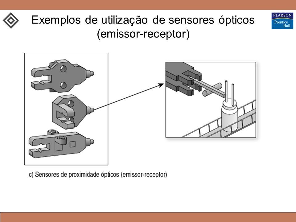 Exemplos de utilização de sensores ópticos (emissor-receptor)