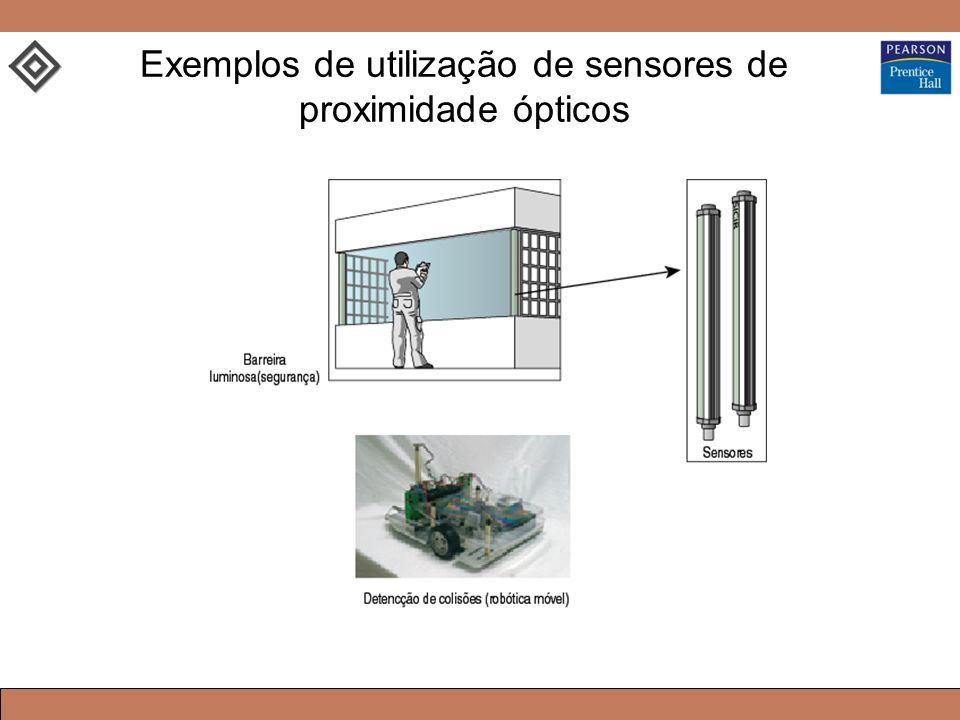 Exemplos de utilização de sensores de proximidade ópticos
