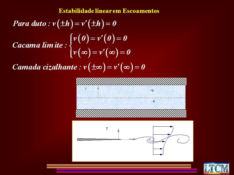 +h -h y Estabilidade linear em Escoamentos