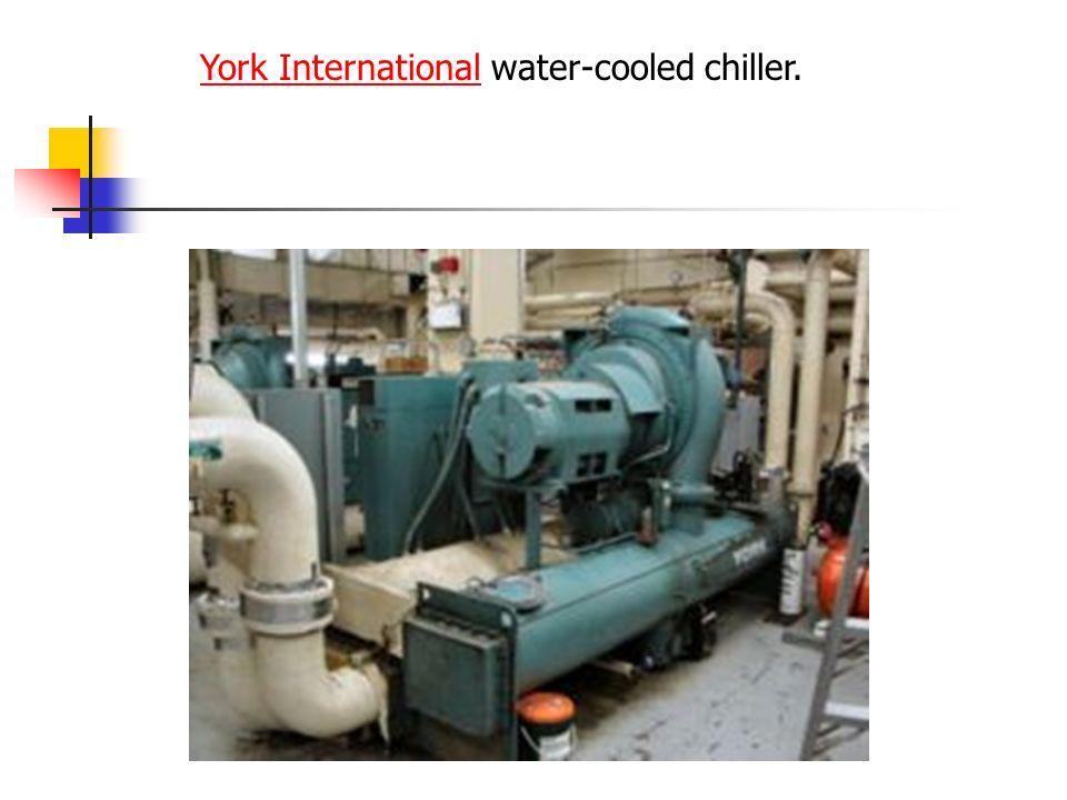 York InternationalYork International water-cooled chiller.