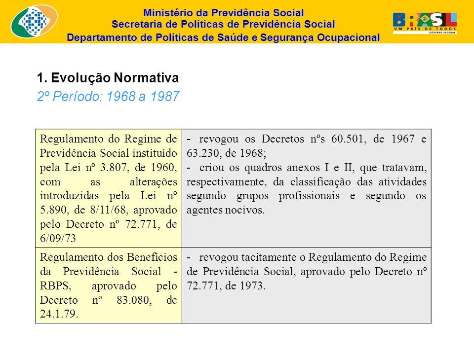 Ministério da Previdência Social Secretaria de Políticas de Previdência Social Departamento de Políticas de Saúde e Segurança Ocupacional Regulamento