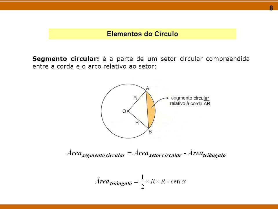 9 Ângulo inscrito em uma circunferência Propriedade 1: A medida de um ângulo inscrito, é igual à metade da medida do ângulo central correspondente.