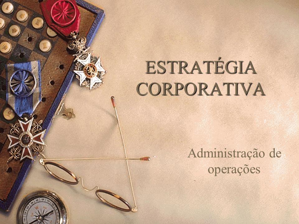 ESTRATÉGIA CORPORATIVA Administração de operações