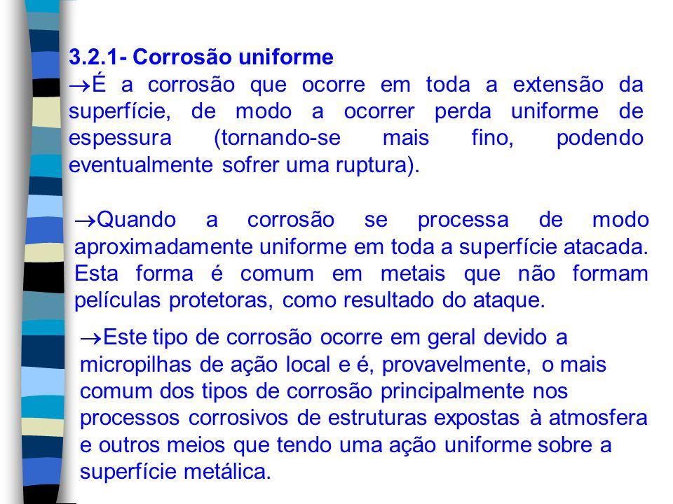 3.2.4- Corrosão Galvânica Denomina-se corrosão galvânica o processo corrosivo resultante do contato elétrico de materiais diferentes ou dissimilares.
