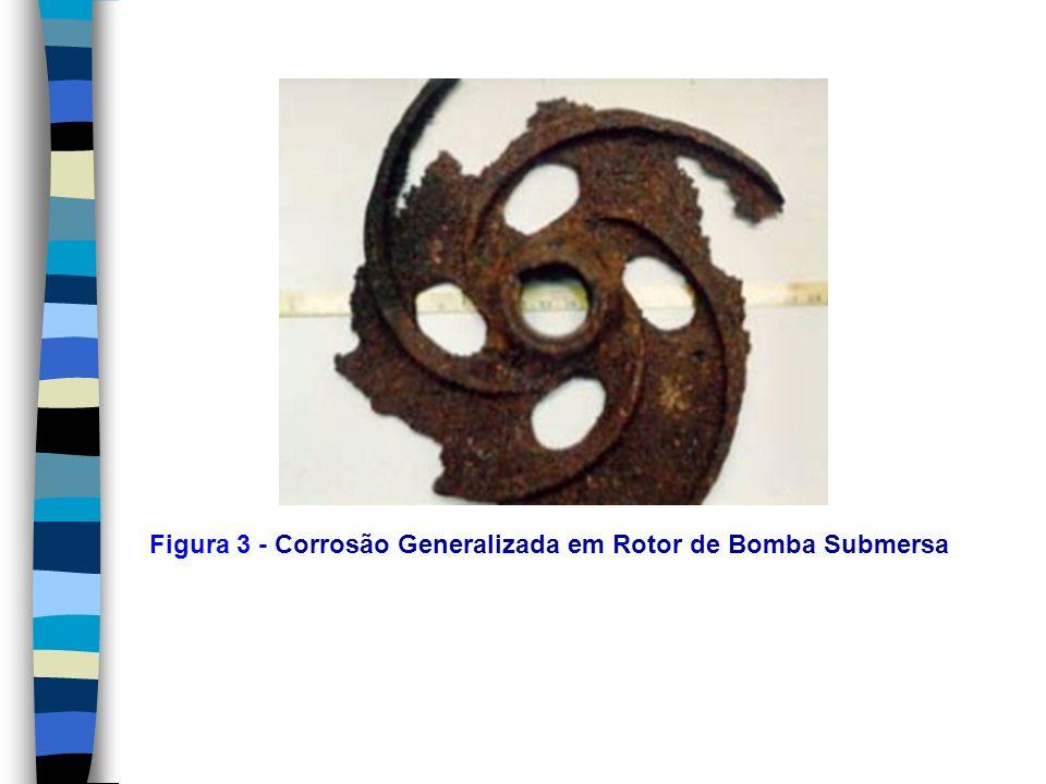 3.2.7- Corrosão por Esfoliação A corrosão por esfoliação ocorre em diferentes camadas e o produto de corrosão, formado entre a estrutura de graõs alongados, separa as camadas ocasionando um inchamento do material metálico.